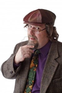 14570375-heavy-set-middle-aged-man-with-glasses-cap-and-tweed-jacket-strokes-beard-and-smiles-vertical-isolat